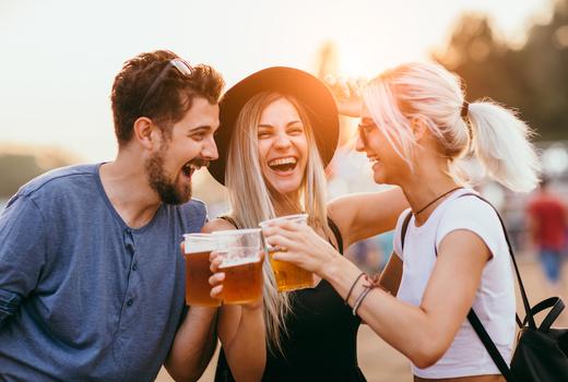 Brooklyn summer creft brew fest people drinking beers sunshine