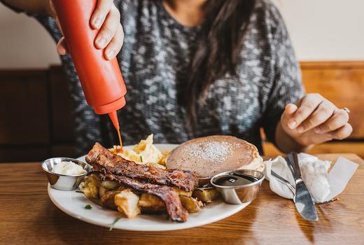 Stella artois sidebar buffet pancakes bacon