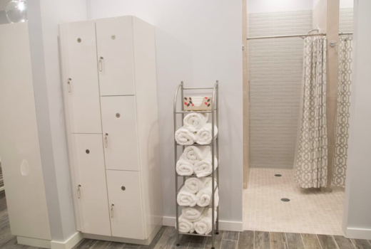 Bar method hoboken studio shower lockers cool
