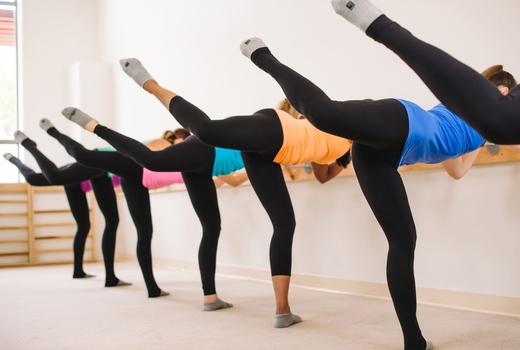 Bar method women isometric fitness