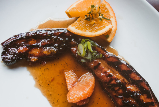 Marble downtown slab bacon maple glaze
