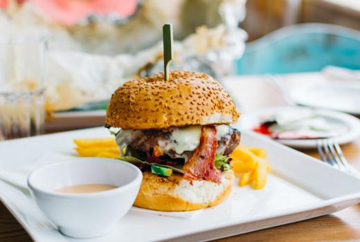 Highland nyc lamb burger stacked love