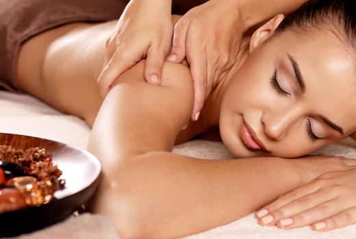 Organic elements woman massage relax