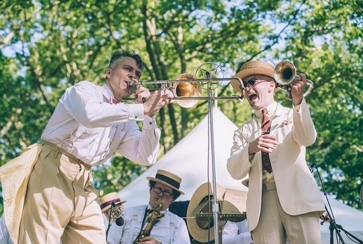 Jazz age lawn music instruments fun