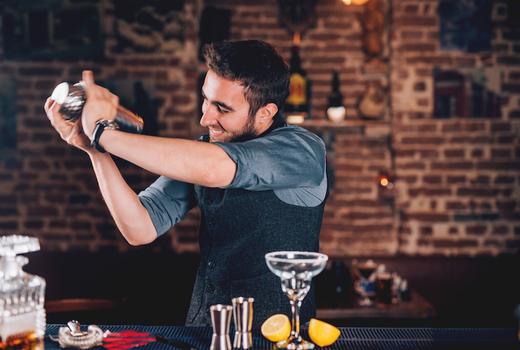 Margarita march bartender shake