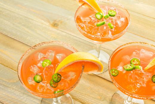 Margarita march summer edition jalapeno spicy