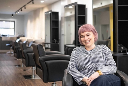 Wayward hairdresser owner love inside salon