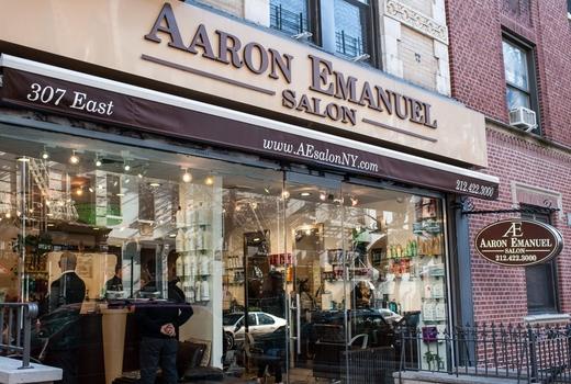Aaron emanuel salon outside chic classic