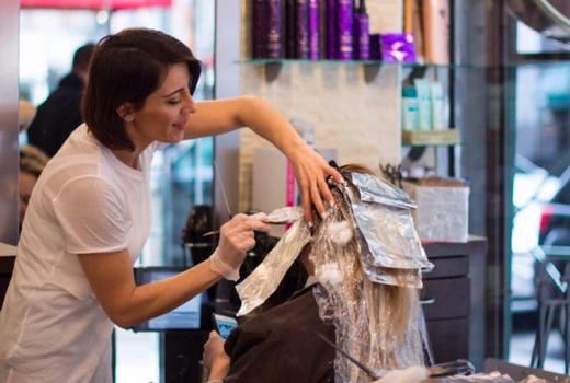 Aaron emanuel highlights stylist foils