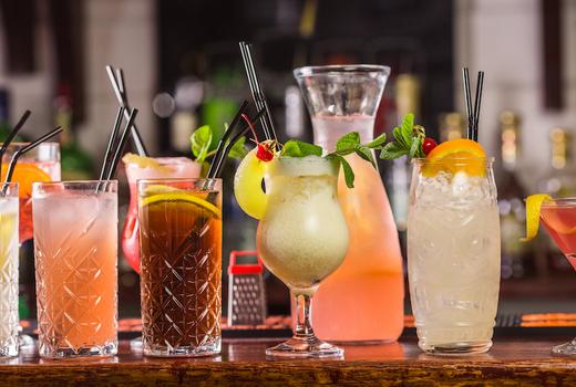 Broadstone cocktails bar drinks colorful