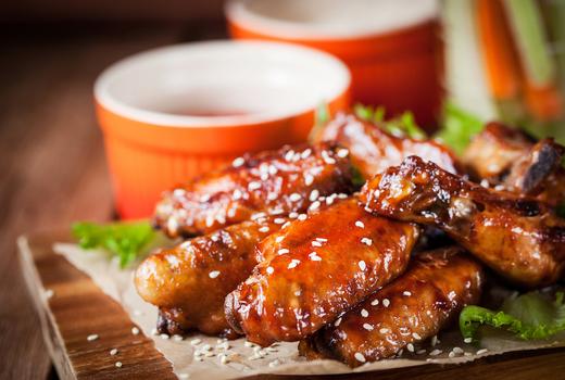 Broadstone chicken wings glazed yum