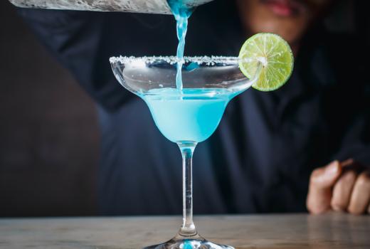 Wicked willys blue hypnotiq drink