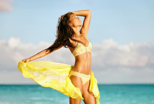 New york beauty center yellow bikini
