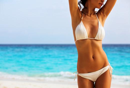 New york beauty center woman abs bikini