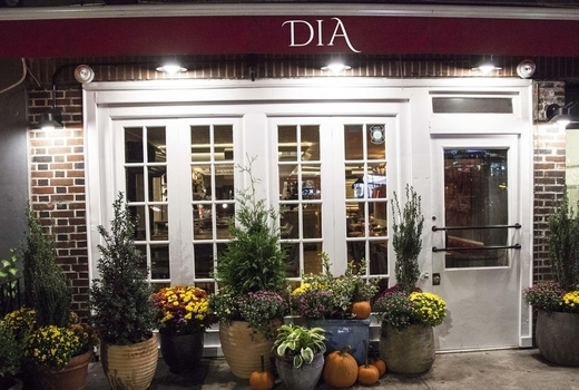 Dia dinner outside