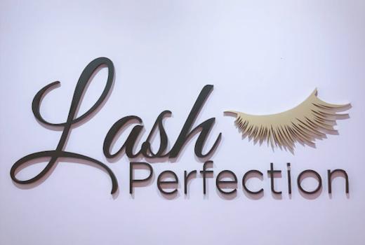 Lash perfection inside logo