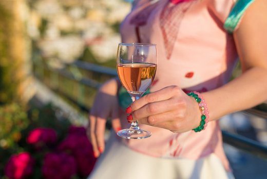 Clinton hall cheers rooftop vibes rose wine