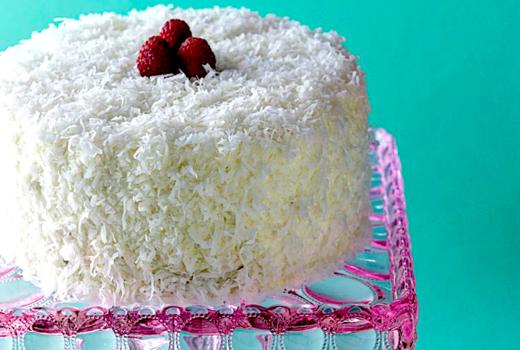 Alices tea cup coconut cake