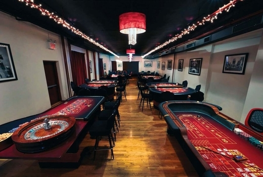 Big deal casino speakeasy party inside room cool