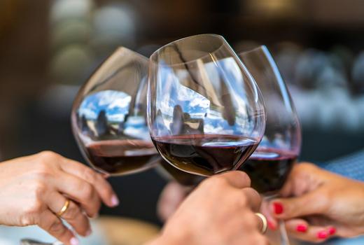 Big deal casino speakeasy party cheers red wine