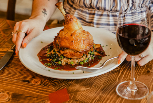 Woodpecker david burke chicken wine
