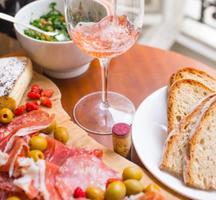 Nyc autumn wine food fest reose pour charcuterie