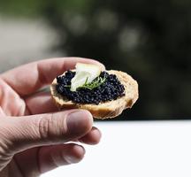 Amc gala crostini caviar