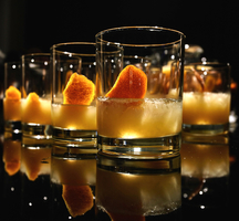 Central park boathouse cocktail orange