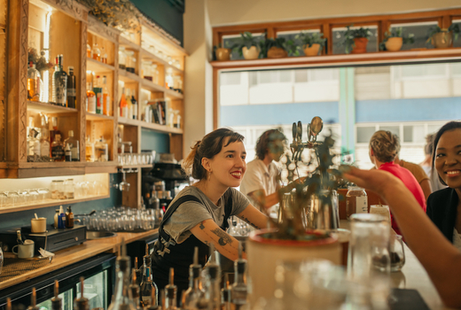 Autumn tippler bartender friends
