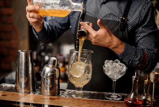 Autumn tippler bartender pour