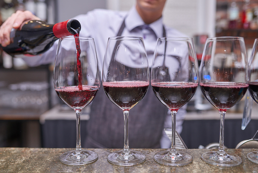 Park evenue tavern california wine red love