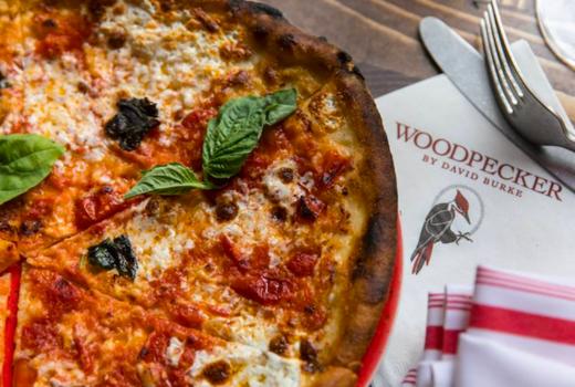 Woodpecker brunch pizza logo nyc