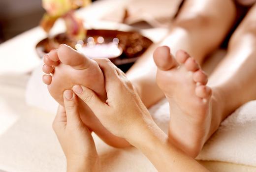 Russian turkish baths foot massage