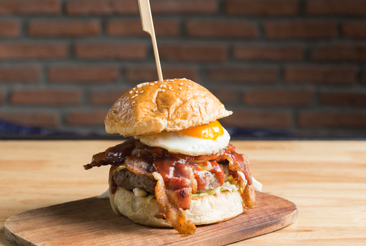 Memoria brunch burger delish eggs