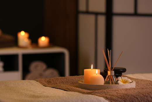 Vega spa inside bed candles aroma