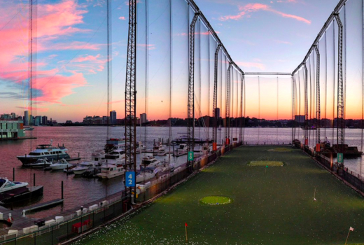 Chelsea piers green sunset