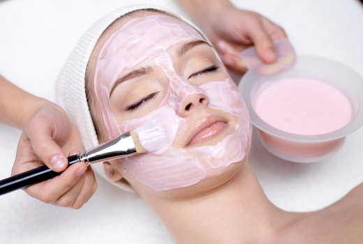 One of kind facial pink mask