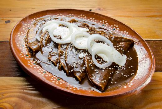 Cantina royal mole enchiladas