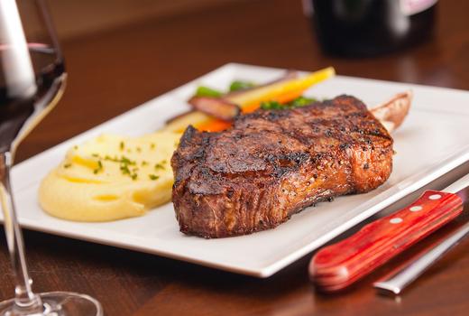 Eros dinner rib eye steak