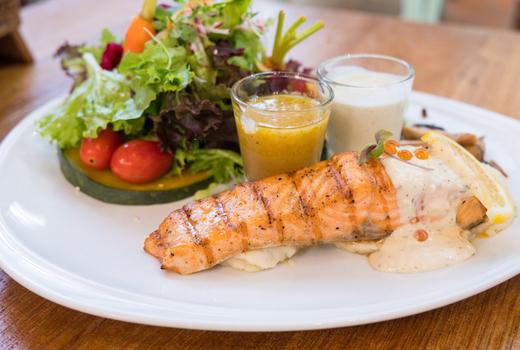 Eros dinner seafood salmon
