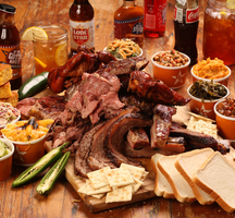 Hill country bbq spread