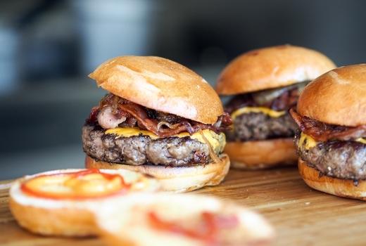 Bourbon burgers meat eats yum