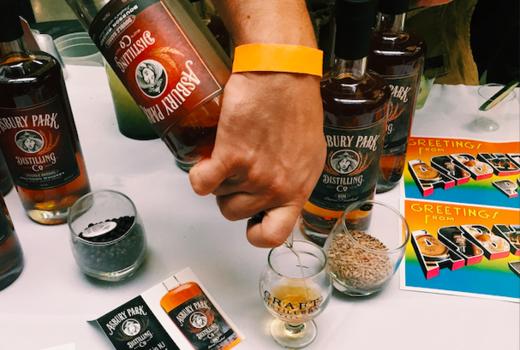 Jersey craft distillery festival pour bottle love