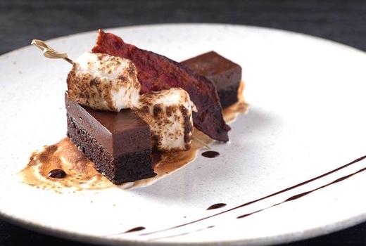 Blackbarn chefs table chocolate dessert nyc
