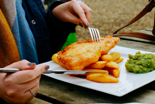 Rochard dinner fish chips