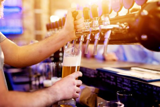 Beer tippler tap bartender