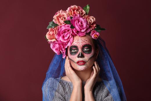 Villa cemita day of the dead woman beauty