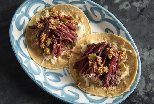 Panorama mezcal tacos meat love