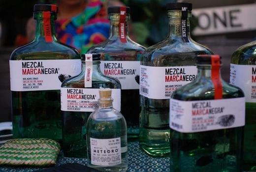 Panorama mezcal bottles mezcal