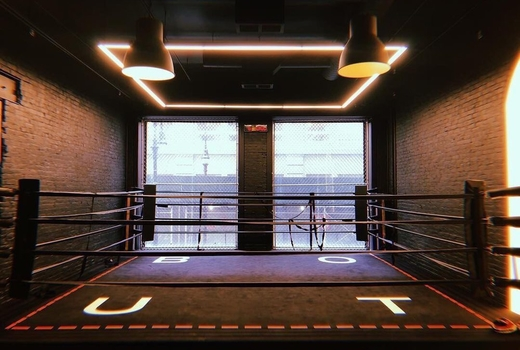 Bout boxing ring windows